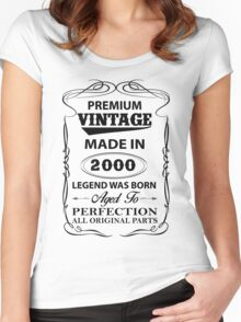 Premium Vintage 2000 Aged To Perfection Women's Fitted Scoop T-Shirt