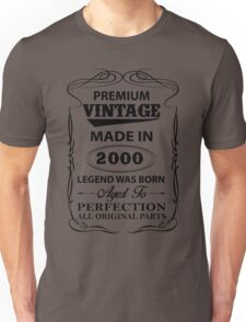 Premium Vintage 2000 Aged To Perfection T-Shirt