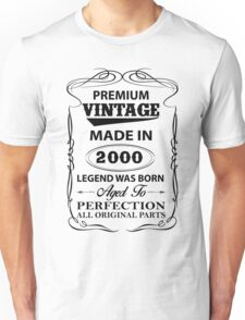 Premium Vintage 2000 Aged To Perfection Unisex T-Shirt