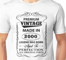 Premium Vintage 2000 Aged To Perfection Unisex T-Shirt