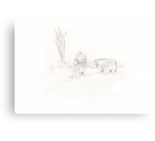 Pooh Canvas Print