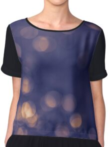 Bokeh background. Chiffon Top