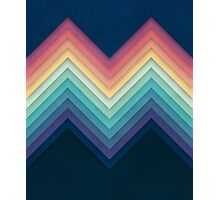 Retro Chevrons 002 Photographic Print