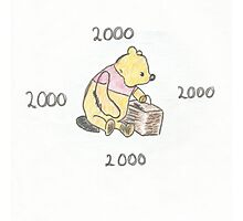 Pooh bear 2000 Photographic Print