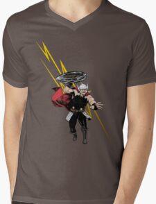Thor God Of Thunder Mens V-Neck T-Shirt
