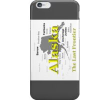 Alaska State Pride Map Silhouette  iPhone Case/Skin