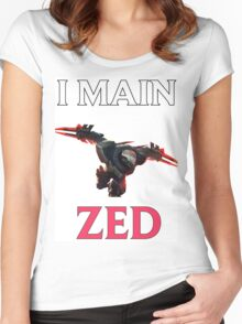 I main Zed - League of Legends Women's Fitted Scoop T-Shirt