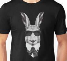 Rabbit in Black Unisex T-Shirt