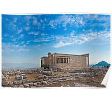 Erechtheum in Acropolis of Athens Poster