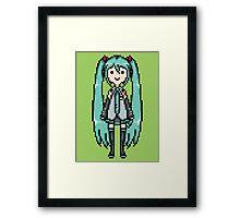 Miku Pixel Sprite Framed Print