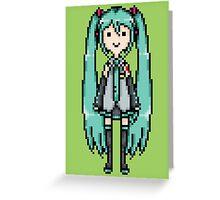 Miku Pixel Sprite Greeting Card