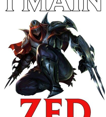 I main Zed - League of Legends Sticker