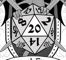 Natural 20 Crest - D&D (White) Sticker