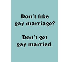 Gay marriage (Black) Photographic Print