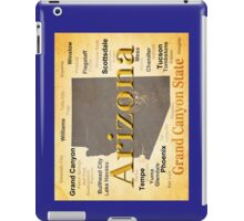 Aged Arizona State Pride Map iPad Case/Skin