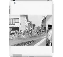 Tour de France 1980's black and white iPad Case/Skin