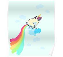 rainbow pug #2 Poster
