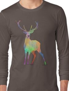 Coloured Stag Long Sleeve T-Shirt