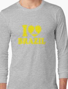I Heart Brazil Long Sleeve T-Shirt