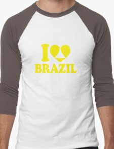 I Heart Brazil Men's Baseball ¾ T-Shirt