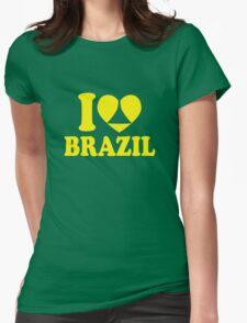 I Heart Brazil Womens Fitted T-Shirt