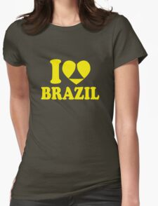 I Heart Brazil Womens Fitted T-Shirt