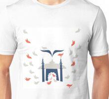 Home (Gray, Navy and Orange) Unisex T-Shirt