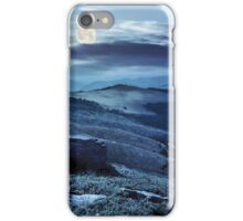 path through the meadow in mountains at night iPhone Case/Skin