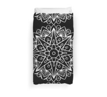 Mandala in White Duvet Cover