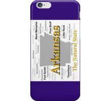 Arkansas State Pride Map Silhouette  iPhone Case/Skin