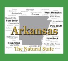 Arkansas State Pride Map Silhouette  T-Shirt