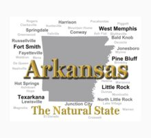 Arkansas State Pride Map Silhouette  One Piece - Long Sleeve