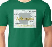 Arkansas State Pride Map Silhouette  Unisex T-Shirt