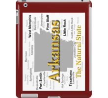 Arkansas State Pride Map Silhouette  iPad Case/Skin