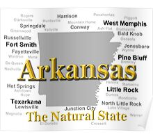 Arkansas State Pride Map Silhouette  Poster