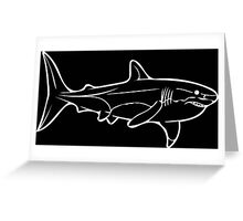 Great White in White Greeting Card