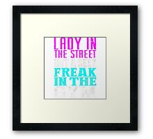 (Lady In The Street But A Sexy Freak In The Gym Framed Print