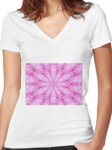 Totally Pink - Abstract Women's Fitted V-Neck T-Shirt