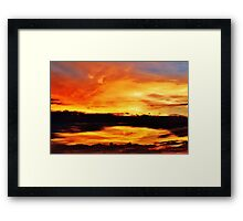 Reflection in the Sky Framed Print
