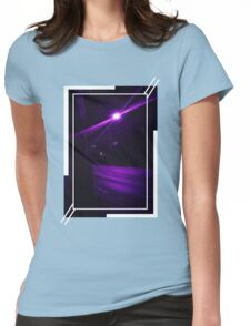 Purple Street at Night Womens Fitted T-Shirt