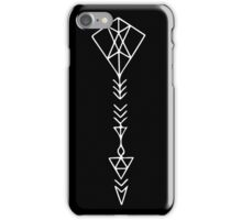 Arrow in White iPhone Case/Skin
