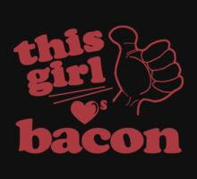 This Girl Loves Bacon Kids Tee