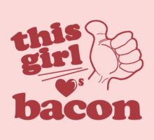 This Girl Loves Bacon Baby Tee