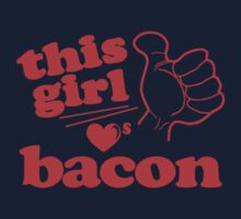 This Girl Loves Bacon One Piece - Short Sleeve