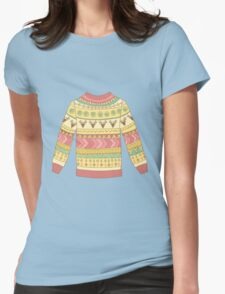Cute cozy sweater Womens Fitted T-Shirt