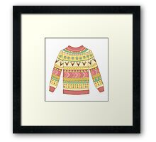 Cute cozy sweater Framed Print