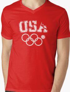 Team USA Sochi Mens V-Neck T-Shirt