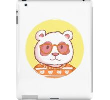 Hipster panda bear  iPad Case/Skin