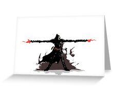 Reaper 2 Hands 2 Guns  Greeting Card