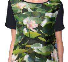 Cluster of Lily Pads Chiffon Top